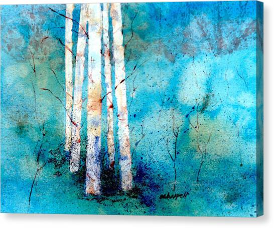 Wintry Aspen Canvas Print