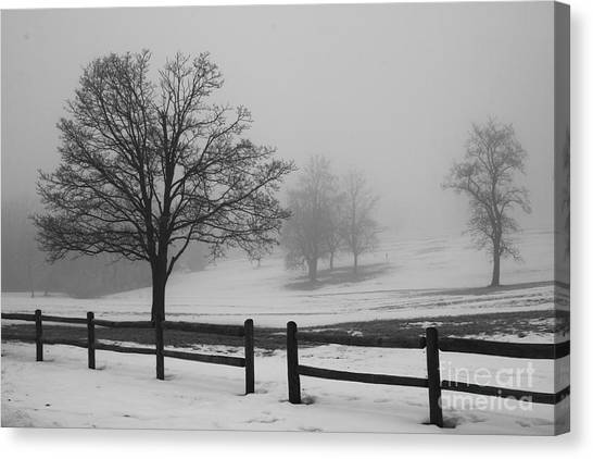 Wintry Morning Canvas Print
