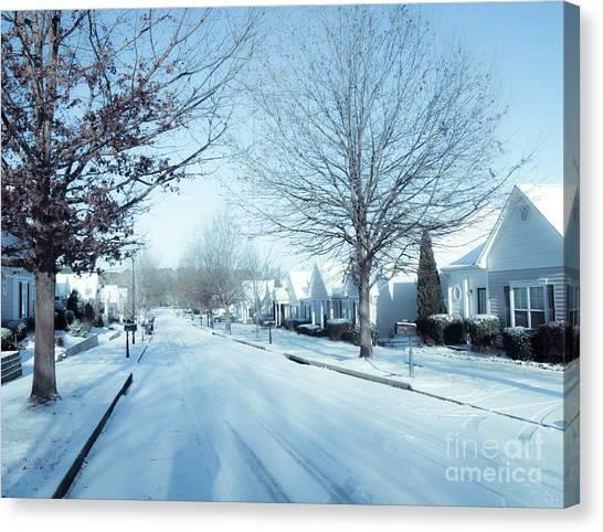 Wintry Snow Fall - Georgia Canvas Print