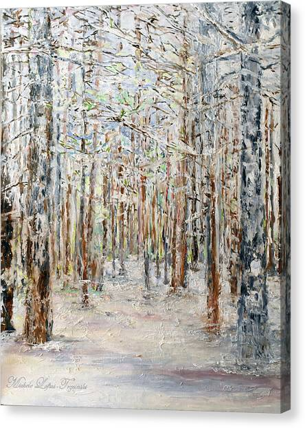Wintry Woods Canvas Print