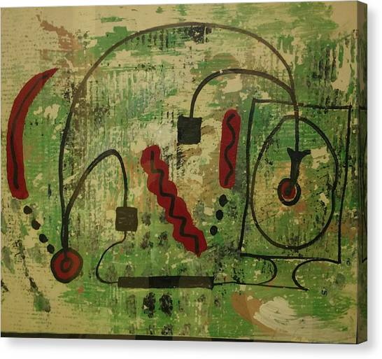 Wired Composition Enigma Canvas Print