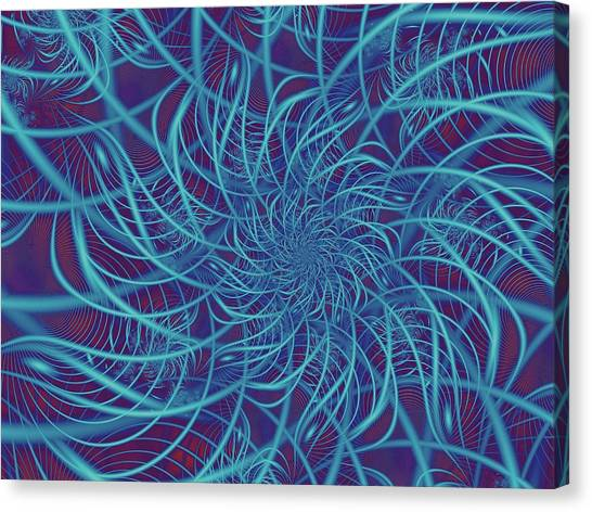Wired In Blue Canvas Print