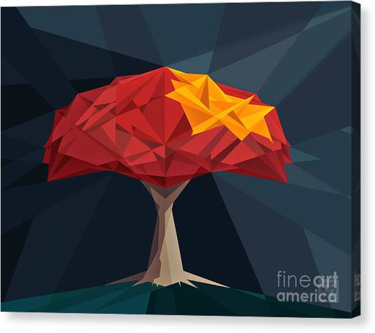 Wired Tree  Canvas Print