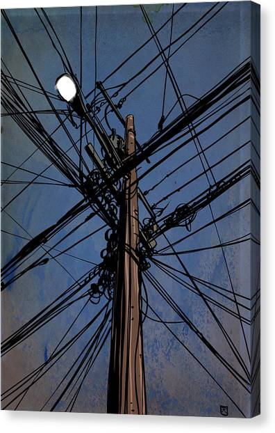 Landscape Canvas Print - Wires 02 by Giuseppe Cristiano