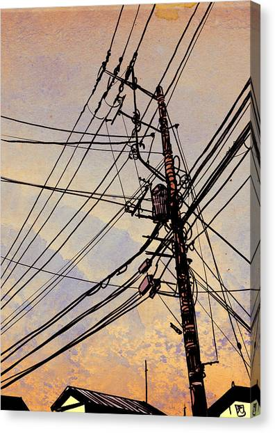 Landscape Canvas Print - Wires Up by Giuseppe Cristiano