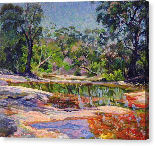 Mirages Canvas Print - Wirreanda Creek - New South Wales - Australia by Robert Tyndall