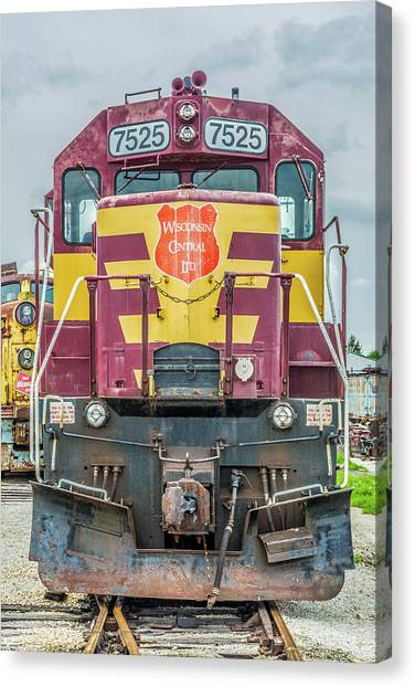 Trainspotting Canvas Print - Wisconsin Central Sd45 by Enzwell