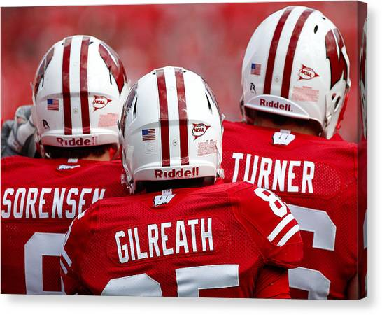 Gridiron Canvas Print - Wisconsin Players by Todd Klassy