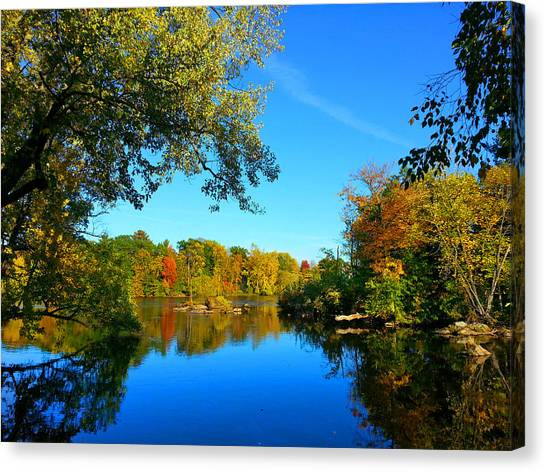 Wisconsin River Colors 2 Canvas Print