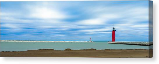 Wisconsin Winter Lakefront Canvas Print