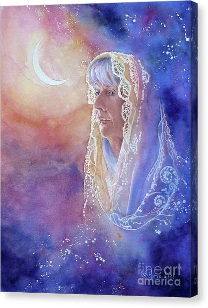 Wisdom Of The Waning Moon Canvas Print