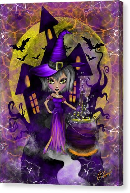 Wisdom Witch Fantasy Art Canvas Print