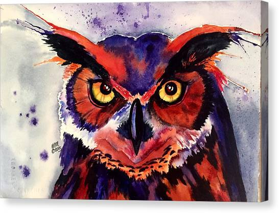 Canvas Print featuring the painting Wisdom's Strength by Michal Madison