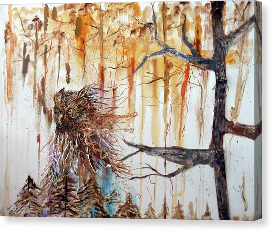 Wise Guardian Of The Forest Canvas Print