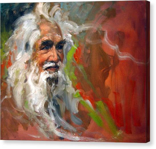 Wise Old Man Canvas Print by Andrew Judd