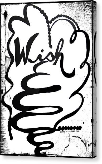 Canvas Print featuring the drawing Wish by Rachel Maynard