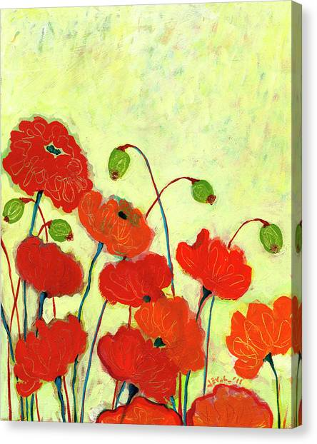Poppy Canvas Print - Wishful Blooming by Jennifer Lommers