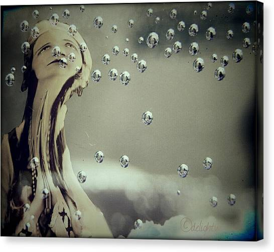 Canvas Print featuring the digital art Wishful Thinking by Delight Worthyn