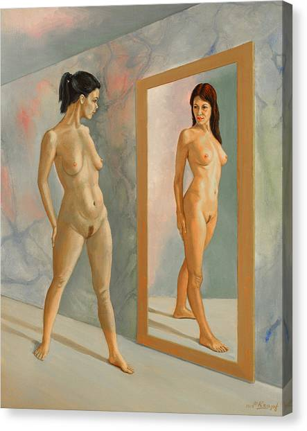 Mirror Canvas Print - Wishful Thinking by Paul Krapf