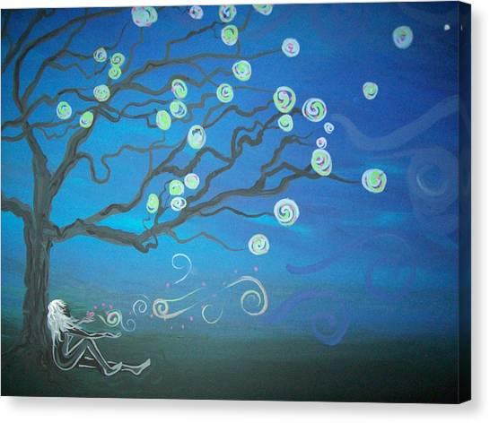 Wishing Tree Canvas Print by Lori Ulatowski