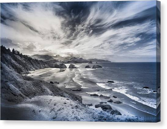 Wisps And Waves Canvas Print