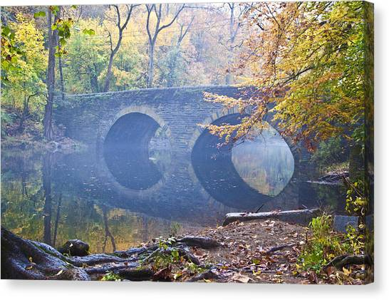 Canvas Print featuring the photograph Wissahickon Creek At Bells Mill Rd. by Bill Cannon