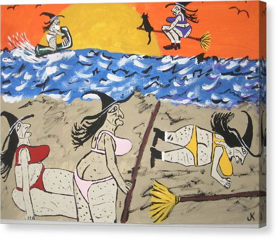 Canvas Print - Witches Day At The Beach by Jeffrey Koss