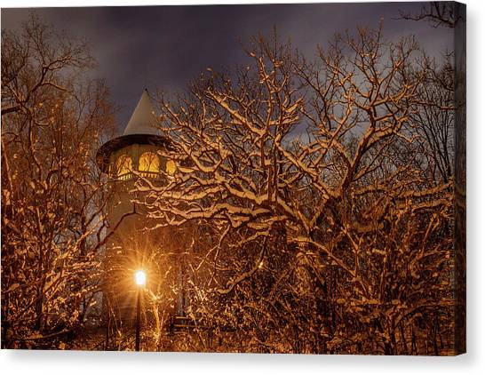University Of Minnesota - Twin Cities Canvas Print - Witch's Hat Water Tower by Jay Rasmussen