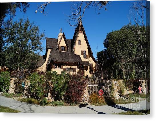 Los Angeles Chargers Canvas Print - Witch's House Beverly Hills California by Timea Mazug