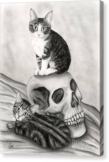 Witch's Kittens Canvas Print