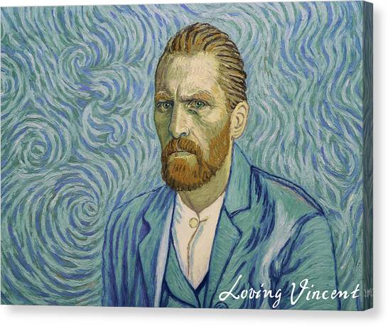 Vincent Van Gogh Canvas Print - With A Handshake - Your Loving Vincent by Anna Kluza