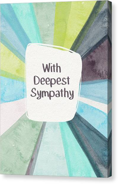 Sympathy Canvas Print - With Deepest Sympathy- Art By Linda Woods by Linda Woods