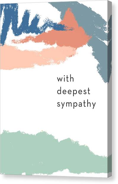 Sympathy Canvas Print - With Deepest Sympathy- By Linda Woods by Linda Woods