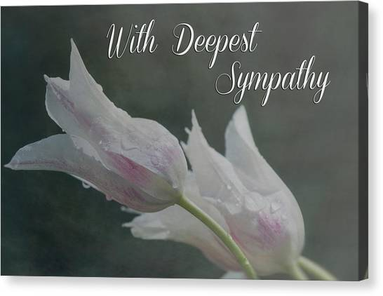With Deepest Sympathy Canvas Print