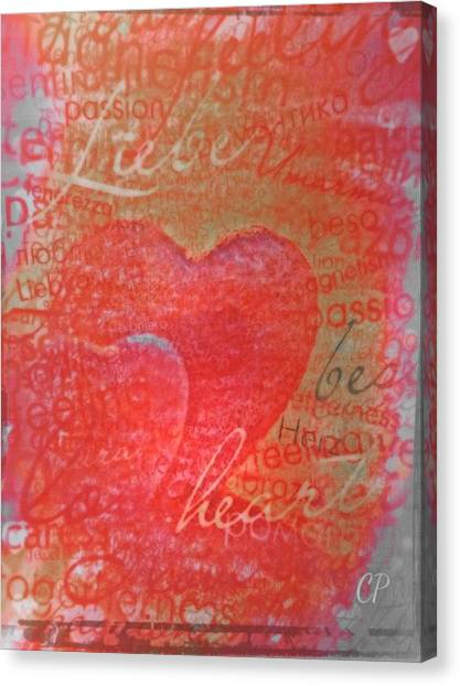 With Heart Canvas Print