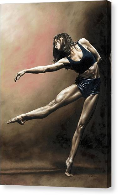 Tutu Canvas Print - With Strength And Grace by Richard Young