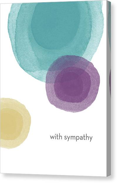 Death Canvas Print - With Sympathy Circles- Art By Linda Woods by Linda Woods