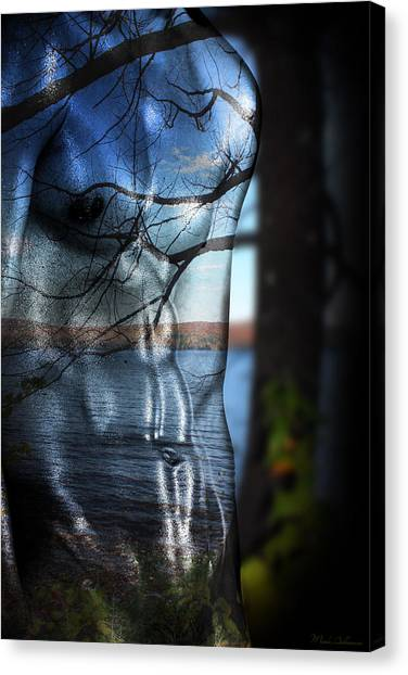 Bodybuilder Canvas Print - With The Back To The Sea  by Mark Ashkenazi