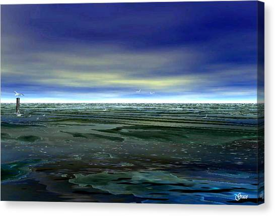 With The Incoming Tides Canvas Print
