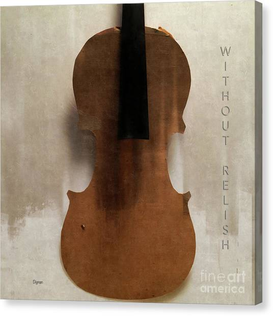 Violins Canvas Print - Without Relish  by Steven Digman