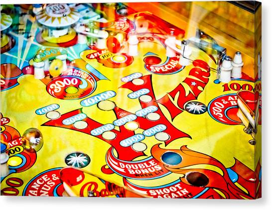 Fast Ball Canvas Print - Wizard - Pinball Machine by Colleen Kammerer