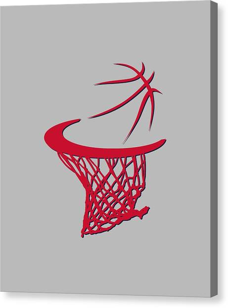 Washington Wizards Canvas Print - Wizards Basketball Hoop by Joe Hamilton