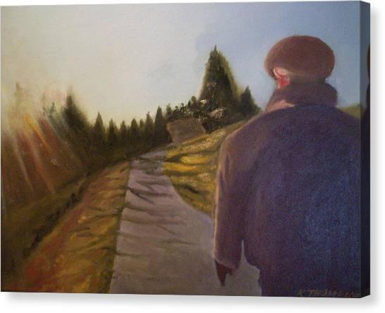 Wnter Walk Canvas Print by Karen Thompson