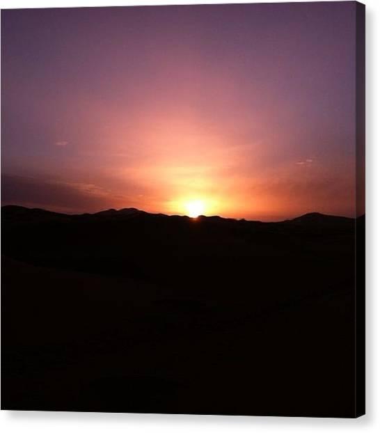 Sahara Desert Canvas Print - Sahara Desert Sunrise by Nicole Alvarez