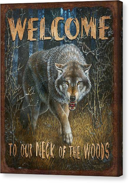 Neck Canvas Print - Wold Neck Of The Woods by JQ Licensing