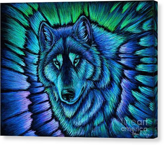 Wolf Aurora Canvas Print