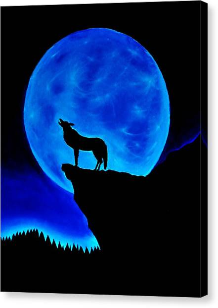 Wolf Howling  Canvas Print by Nicole  Cris