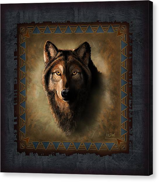 Wyoming Canvas Print - Wolf Lodge by JQ Licensing