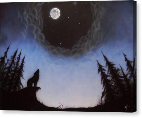 Wolf Moon Canvas Print by Devaron Jeffery
