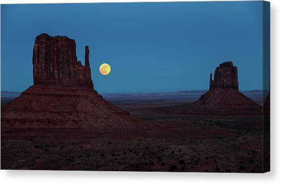 Wolf Moon Canvas Print - Wolf Moon  by James Marvin Phelps